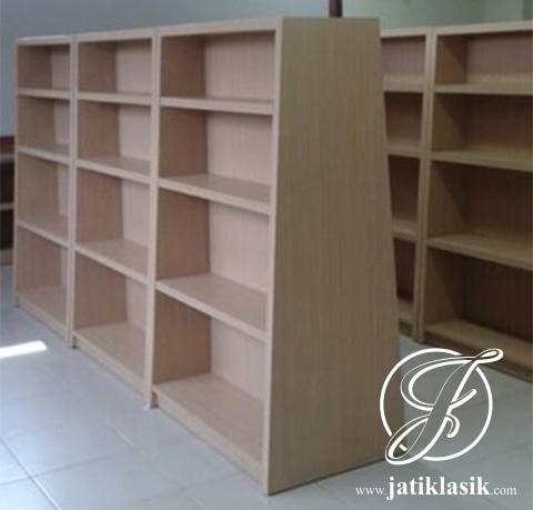 Rak Buku Perpustakaan Minimalis Kayu Jati