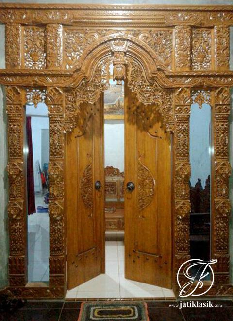 Gambar Jual Pintu Gebyok Jati Ukir Kudus Terbaru Klasik Desain Rumah Di Rebanas - Rebanas