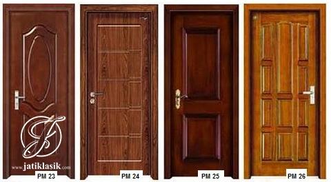 128 Contoh Desain Pintu 1 Daun Paling Keren