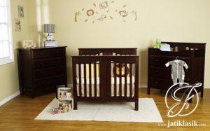 Set Tempat Tidur Bayi Jati Davinci Mini