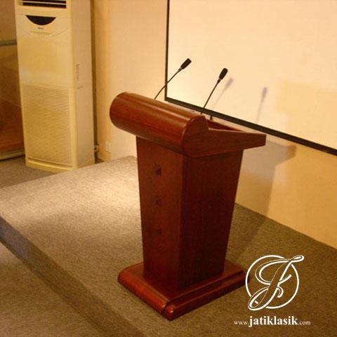 Mimbar Pidato Minimalis Jati Mewah