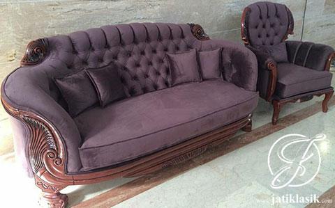 Set Sofa Angsa Ukir Jati Mewah