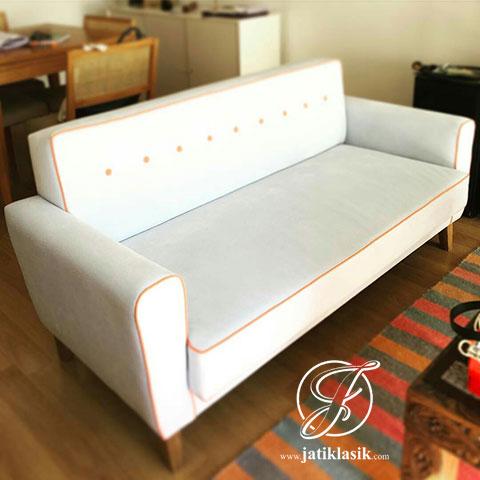 Sofa Single Mewah Jati Minimalis