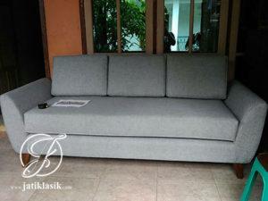 Sofa Single Minimalis Jati Mewah