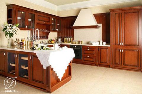 Jual Kitchen Set Jati Polandia Minimalis Modern Jati Klasik