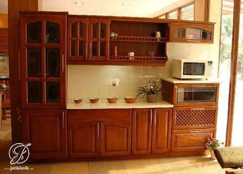 Jual Kitchen Set Lurus Jati Minimalis Modern Jati Klasik