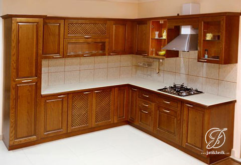 Jual Kitchen Set Minimalis Jati India Modern Jati Klasik