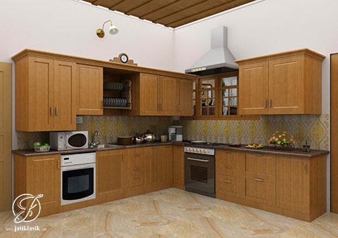 Jual Kitchen Set Minimalis Modern Jati India Jati Klasik