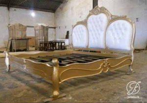 Tempat Tidur Mewah Ukir French Classic Gold