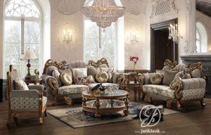 Kursi Sofa Tamu Jati Royal King Klasik