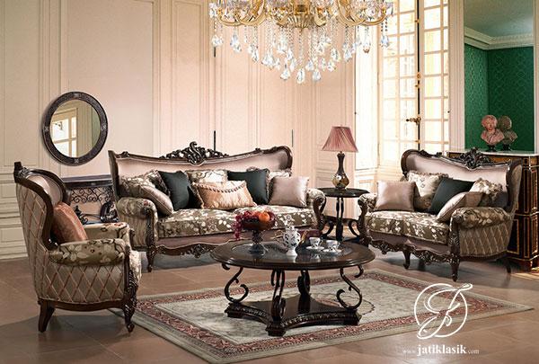Kursi Sofa Tamu Klasik Ukir Jati Prancis