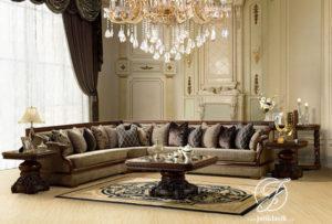 Kursi Sofa Tamu Sudut Jati Royal Klasik