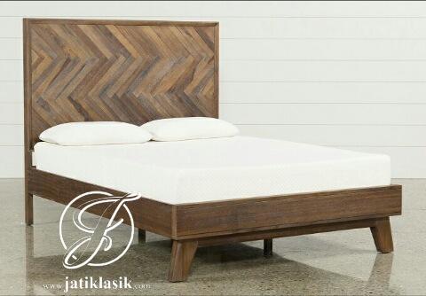 Tempat Tidur Unik Minimalis Klasik Kayu Jati