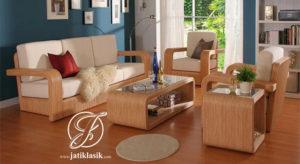 Sofa Tamu Minimalis Modern Jati Jepara