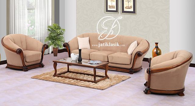 Sofa Tamu Terbaru Jati Mewah Minimalis Modern
