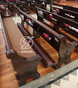 Bangku Gereja dan Tempat Berlutut Minimalis Kayu Jati