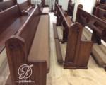 Bangku Gereja Kayu Jati Minimalis Tempat Berlutut Lipat