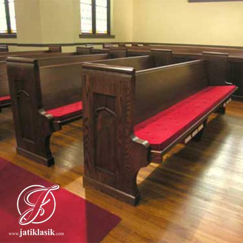 Bangku Gereja Panjang Minimalis Kayu Jati Murah