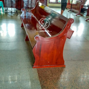 Bangku Kursi Gereja Minimalis Kayu Jati Polos