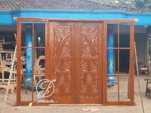 Kusen Pintu Ukir Kayu Jati Rumah Minimalis