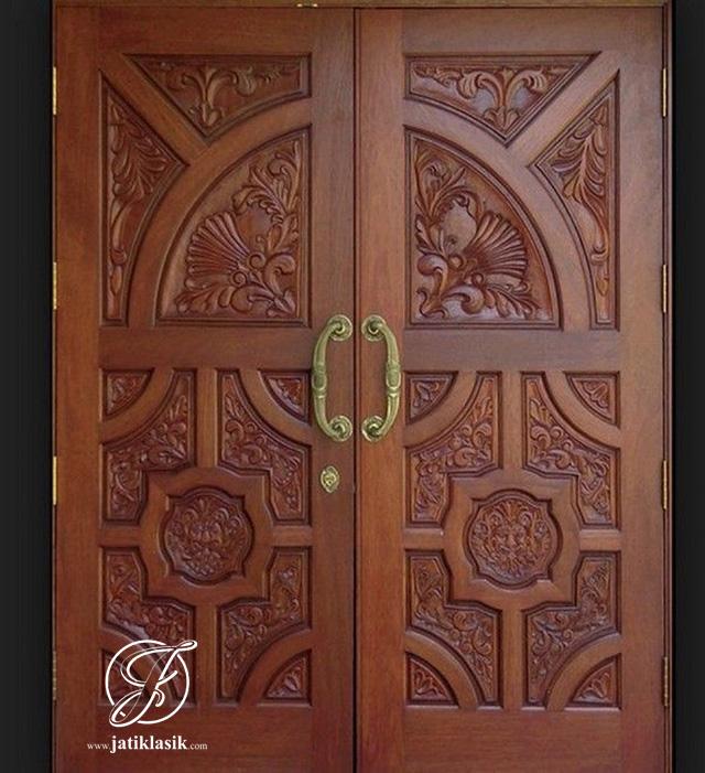 Kusen Pintu Ukir Kayu Jati Rumah Minimalis Mewah
