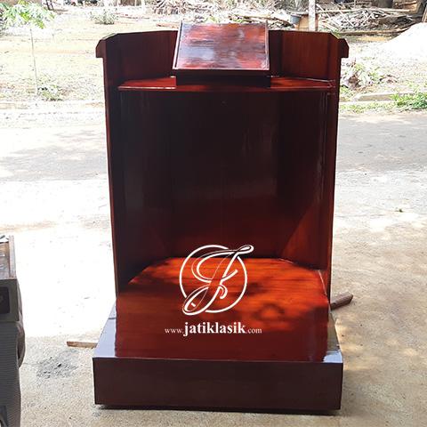 Mimbar Podium Gereja Minimalis Jati Jepara
