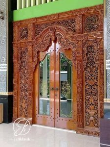 Pintu Masjid Ukir Gapuro Gebyok Jati Modern