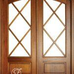 Pintu Jati Kupu Tarung Minimalis Lengkung