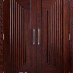 Pintu Kayu Jati Kupu Tarung Minimalis Modern