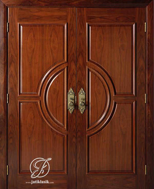Pintu Utama Kayu Jati Minimalis Model Terbaru